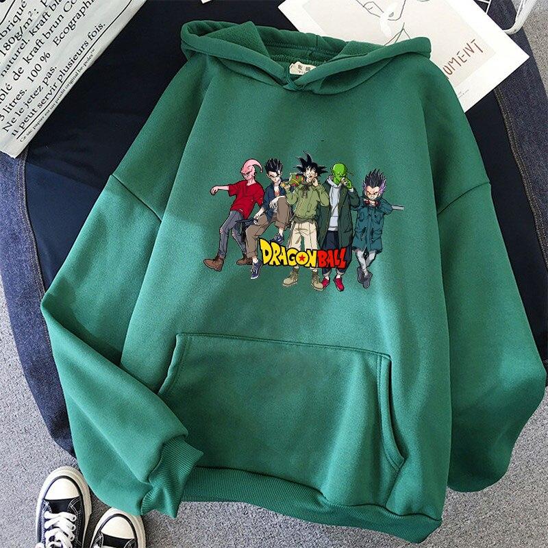 Japanese Anime Printed Hoodies 2021 Spring Autumn Long Sleeve Hoodie Women Cartoon Graphic Streetwear Sweatshirts Female Tops 3