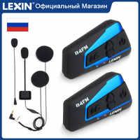 Lexin 2 stücke B4FM BT Moto Bluetooth Intercom Headset für 4 Fahrer FM Radio Universal Paarung Motorrad Helm Intercom