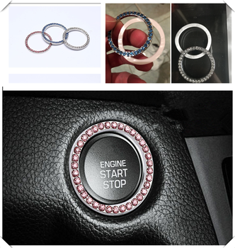 car accessories one button start decorative ring hand-set crystal sticker for BMW all series F-series E46 E90 F09 1 2 3 4 5 6 7 image