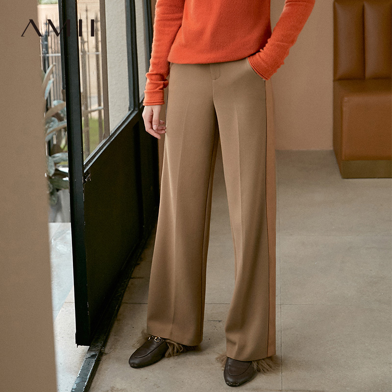 Ami's ist fashion, air-and-gas, casual pants, women's 2019 winter new style, loose and thin pants 11930424