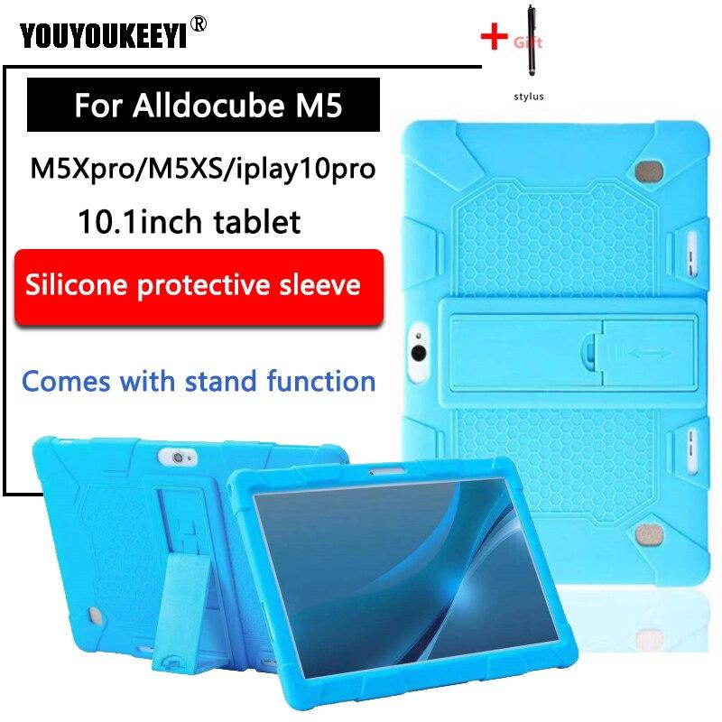 Мягкий силиконовый чехол для Alldocube M5/s/M5X pro 10,1 планшетный ПК Детский безопасный противоударный силиконовый чехол для iplay10pro поставляется с по...