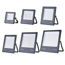 Reflector LED AC165-265V, 10W, 20W, 30W, 50W, 100W, 150W, Blanco cálido, IP66, impermeable, para exteriores