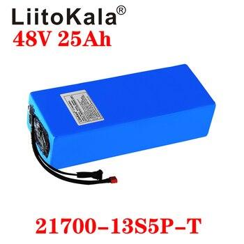 цена на LiitoKala 48V 25Ah Electric Bike Triangle Battery 21700 5000mAh 13S5P 500W Scooter Battery 48v25ah Electric Bike Battery