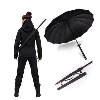 HHYUKIMI Drop Shipping Windproof Samurai Sword Sun Rainny Umbrella Ninja-like Straight Long Handle Ribs Umbrella Manual Open - DISCOUNT ITEM  42% OFF All Category