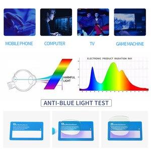 Image 5 - AEVOGUE gafas de protección contra luz azul para hombre y mujer, anteojos ópticos con montura graduada, gafas poligonales AE0787