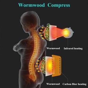 Image 4 - フルボディ電動マッサージクッション加熱赤外線ため頭頸部マッサージ痛み緩和マッサージチェアmassageador