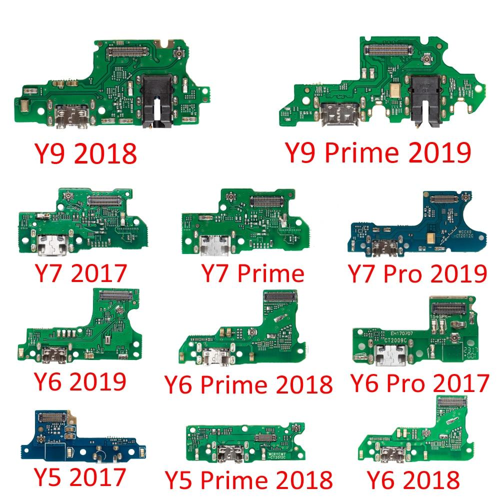 Шлейф для подключения зарядного устройства с микрофоном для HuaWei Y9, Y7, Y6 Pro, Y5 Prime 2017, 2018, 2019