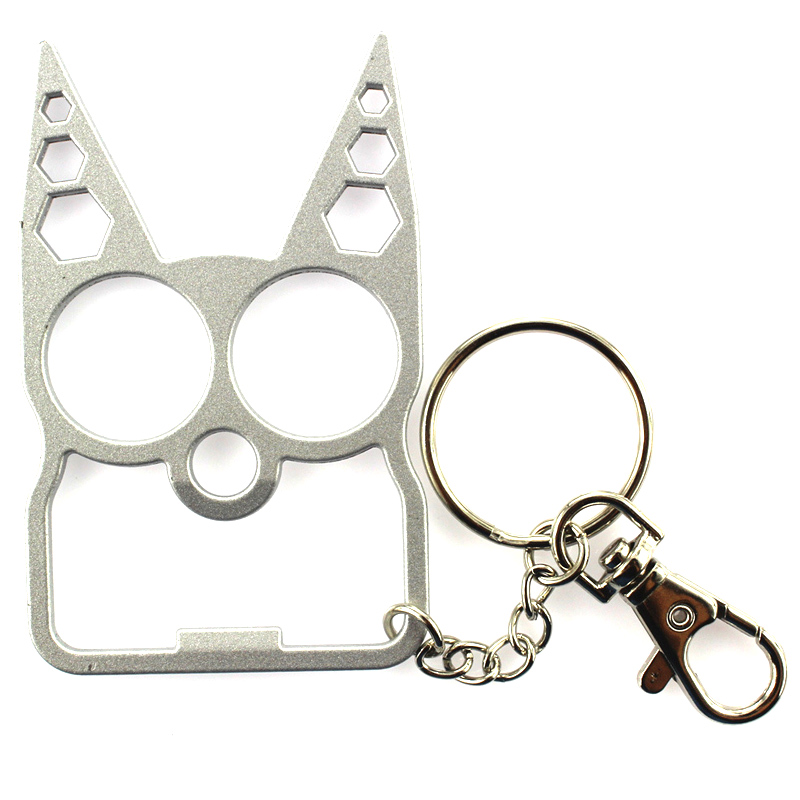 Portable Cute Cat Opener Screwdriver Keychain Self-defense Multifunction Outdoor Gadgets SAL99