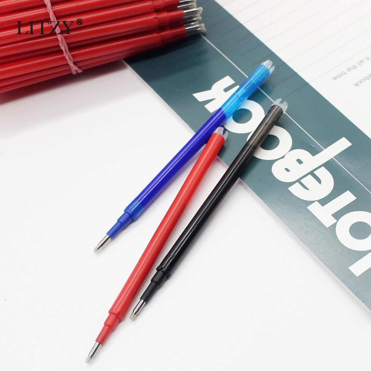 10pcs מחיק ג 'ל עט מילוי 0.7mm שחור/כחול/אדום דיו מחיק כדור עט מילוי משרד בית הספר כתיבה מכתבים אבזרים