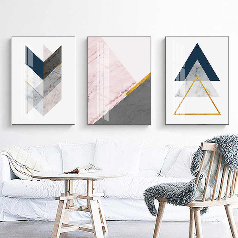 Marble Texture Geometric Poster Abstract Shape Modern Art Canvas Print Wall Painting Nodic Decorative Picture Living Room Decor