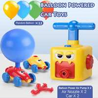 New Power Balloon Car Toy Inertial Power Balloon launcher Education Science Experiment Puzzle Fun Toys for Children Xmas Gift