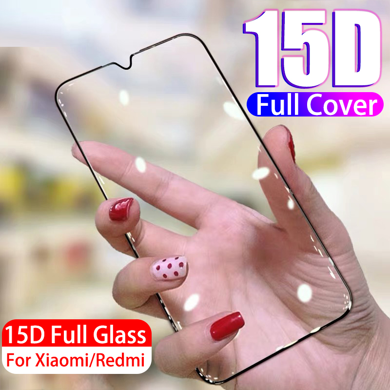 15D Protective Tempered Glass For Xiaomi Redmi 7A Note 7 8 K20 Pro Glass For Xiaomi Mi 9 Se 8 Lite 9T Pro Screen Protector Film