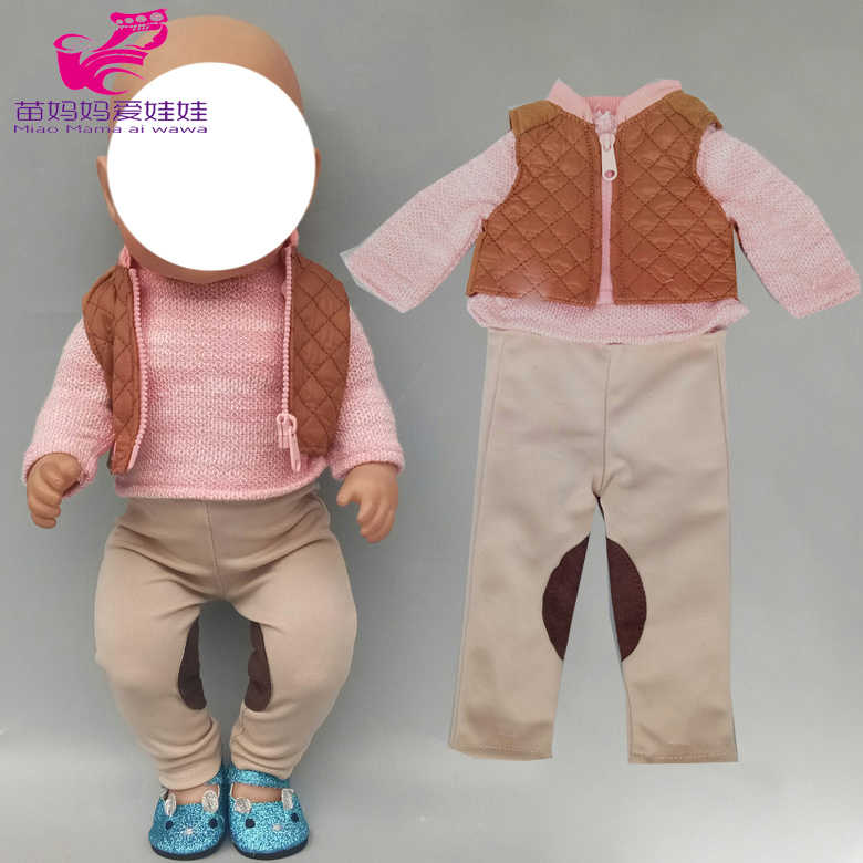 17 inch baby doll clothes ski jacket pants set 18inch american doll clothes coat