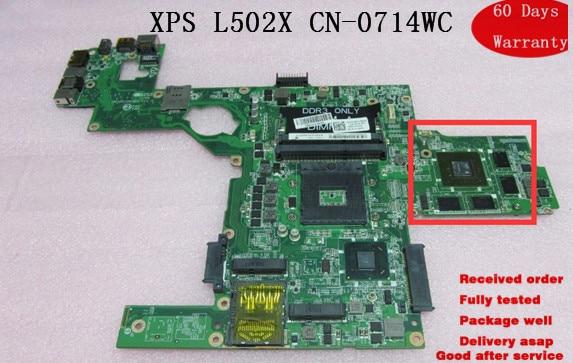 Системная плата для ноутбука Dell XPS 15 L502X материнская плата для ноутбука CN-0714WC 714WC 100% ТЕСТ ОК
