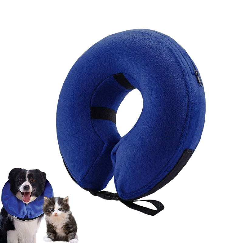 Inflatable Collar for Dogs and Pet With Cone Soft Recovery E-Collar for After Surgery Prevent Pets