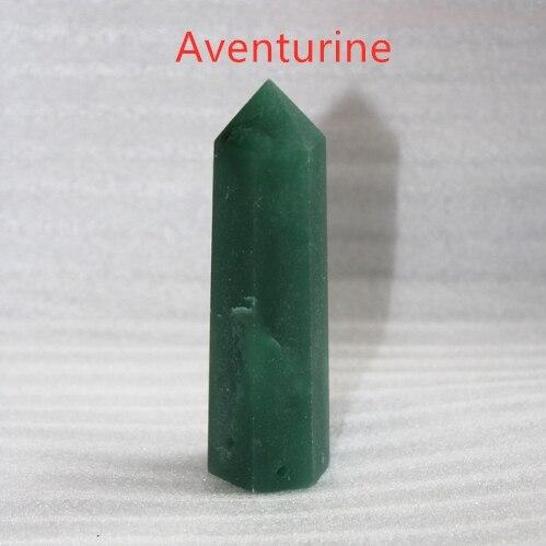 24 камень точка набор башня Wicca Исцеление Кристалл шестиугольник природные минералы волшебная палочка домашний декор аметист розовый кварц