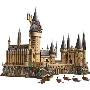 Nowy HP Movie magiczny świat zamek HP brodawki szkolne klocki budowlane 71043 zabawki wielki prezent dla dzieci