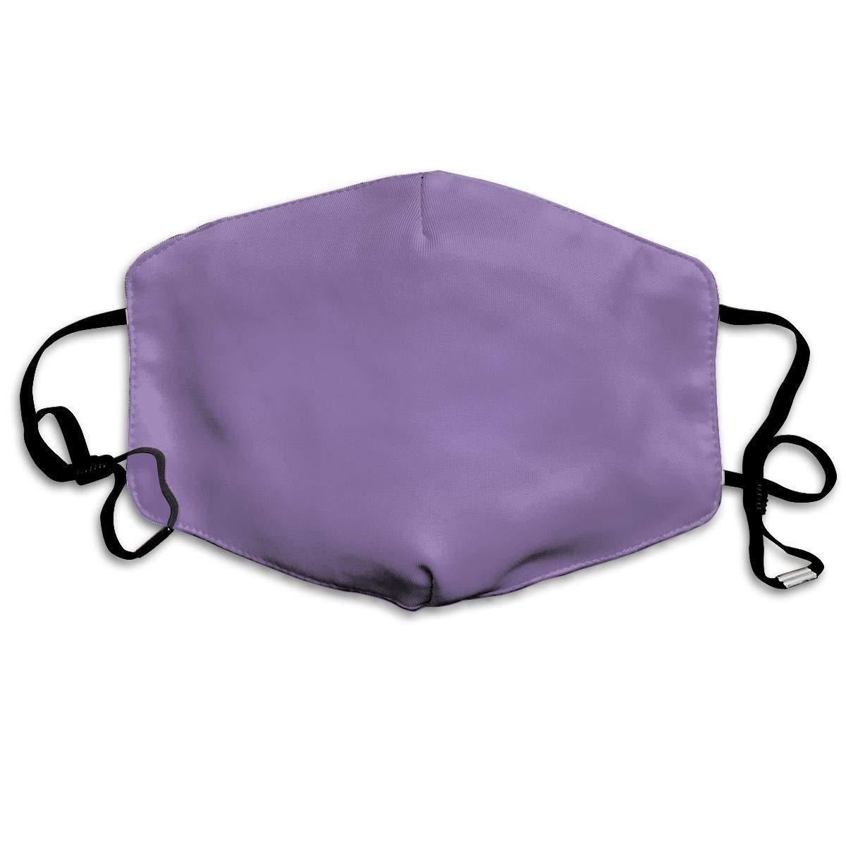 Face Masks Anti-Dust Mouth Cover Unique Lavender Purple Solid Color Washable And Reusable Mask Warm Windproof For Women Men Boys