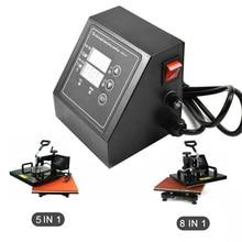 Heat Press Machine Digital Control Box-Temperature Time Embossing Tool T-Shirts/Mug/Plate/Cup Swing Away Heat Transfer Machine