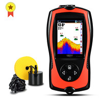 Russian menu!Lucky FF1108-1CT High definition color fish finder depth echo sounder fishing tackle