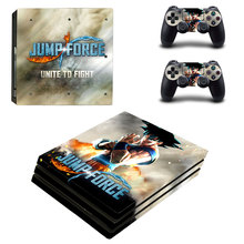 Jump Force Style Skin Sticker for PS4 Pro Console And Controllers Decal Vinyl Skins Cover YSP4P-3307