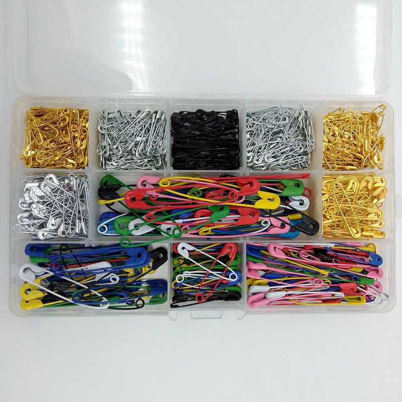 Broches colorées combinaison multi-spécification | 500 pièces broches colorées, raccords d'étiquette suspendus, accessoires de couture