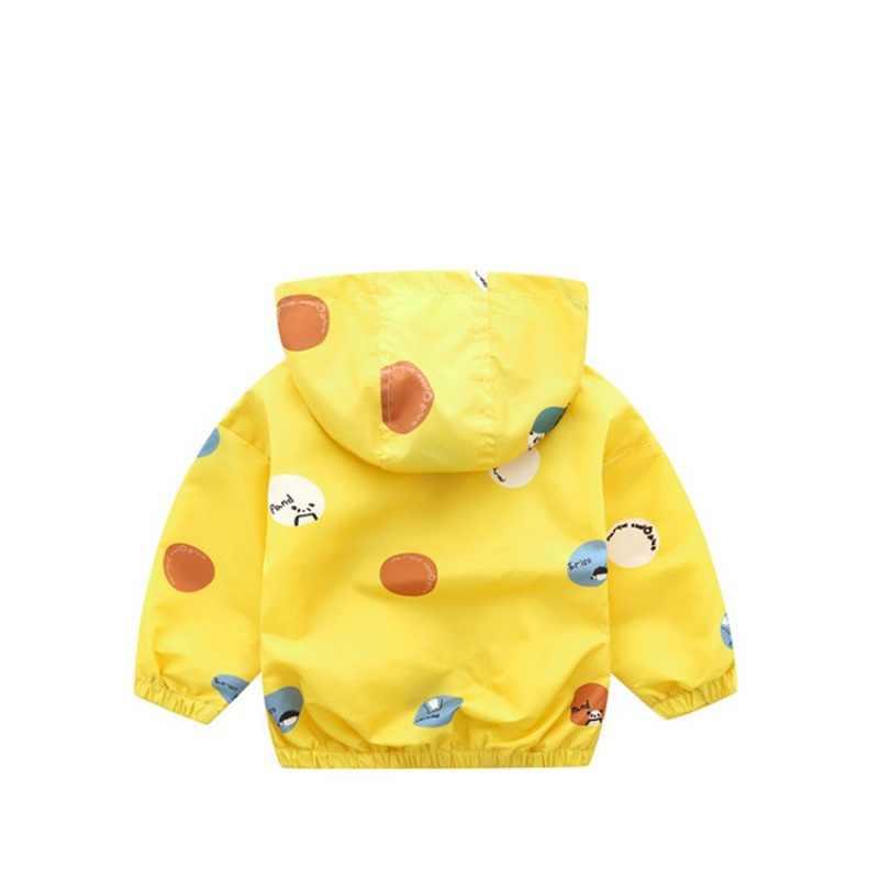 CROAL CHERIE śliczne Dot zwierząt jesień dzieci chłopiec kurtka dla dziewczyn Trech płaszcz odzież dla dzieci wiatrówka z kapturem odzieży wierzchniej ubrania