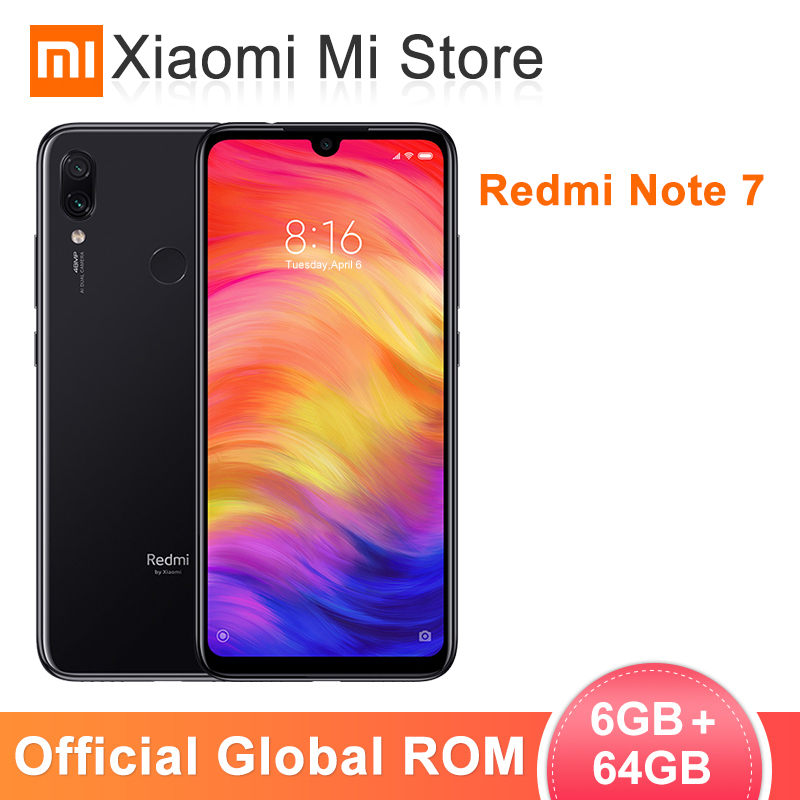 Global ROM Xiaomi Redmi Note 7 6GB RAM 64GB ROM MobilePhone Snapdragon 660 Octa Core 6.3 19.5:9 Full Screen 48MP Rear Camera