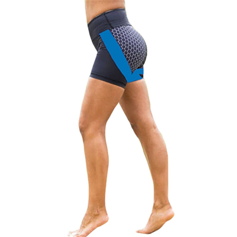 Elastic Sporting Booty Shorts Fashion Women Patchwork Stretch High Waist Bandage Workout Fitness Dry Quick Beach Biker Short