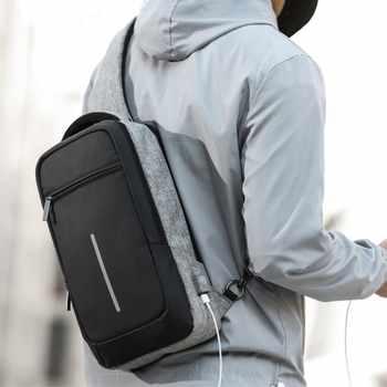 XINCADA Sling Bag Chest Pack Shoulder Crossbody Bags Mens Messenger Bag with USB Charging Port Small Bag Man Purse - DISCOUNT ITEM  40% OFF All Category