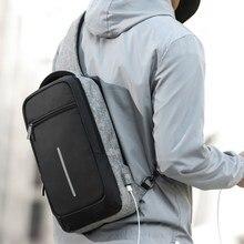 XINCADA sac à bandoulière avec Port de chargement USB pour hommes, sacoche de poitrine, sac à épaule