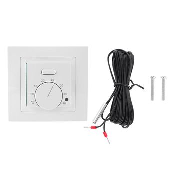 Floor Heating Electric Room Thermostat 16A AC 220-230V Save Energy Floor Heating Temperature Controller ac 250v 16a 50 300c thermostat temperature controller nc no for electric oven