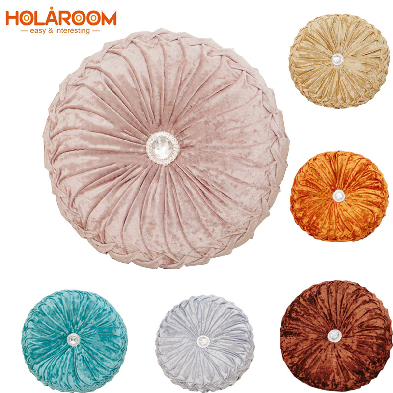 Round Chair Cushion PP Cotton Pumpkin Seat Pad For Patio Home Car Office Floor Pillow Insert Filling Memory Foam Tatami Cushions