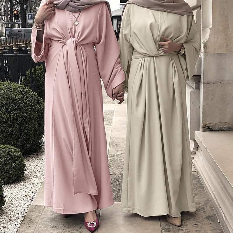 ZANZEA Muslim Dresses Eid Mubarak Kaftan Dubai Abaya Turkey Fashion Hijab Dress Islam Clothing Maxi Sundress For Women Vestidos 1