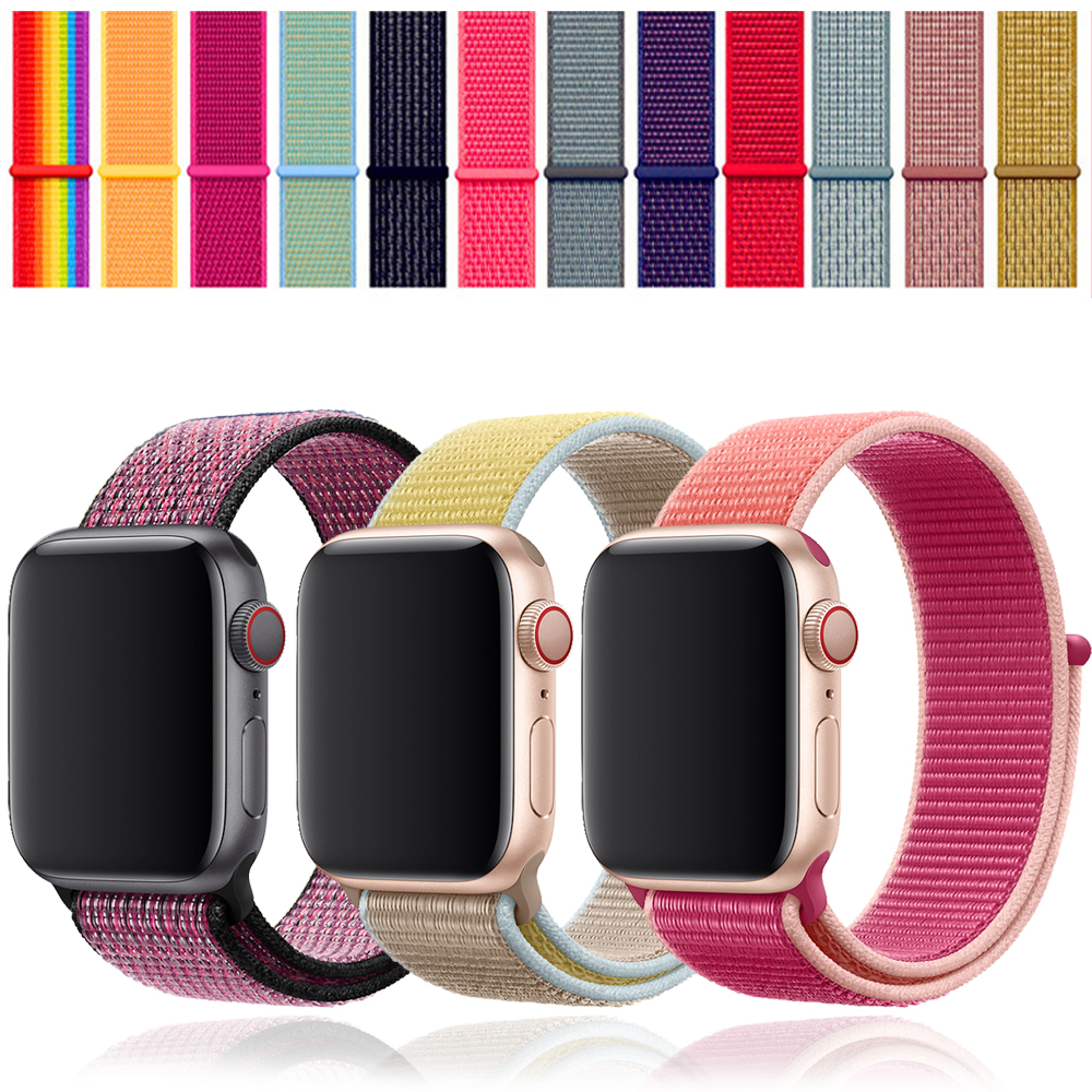 EIMO Strap For Apple Watch Band 44 Mm 40mm Iwatch Band 42mm 38mm Sport Loop Nylon Loop Bracelet Watchband Apple Watch 4 5 3 2 1