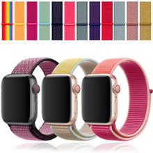 pulseira apple watch 4 44mm apple watch band pulseira apple watch 4 5 3 iwatch 42mm 38mm 40mm Esporte Loop correa loop de Nylon(China)