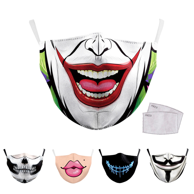 Reusable Mouth Mask Washable Protective PM2.5 Filter Masks Anti Dust Face Mask Windproof Mouth-muffle Bacteria Anti Flu Mask
