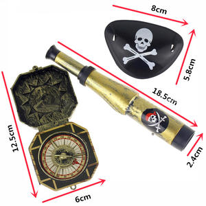 Pirate-Patch Prop-Compass Skull-Dress-Up Party-Toys Mini Telescope Plastic Halloween