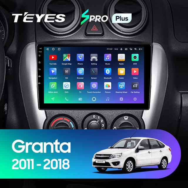 TEYES SPRO Plus Штатная магнитола For Лада ВАЗ Гранта Спорт For LADA Granta Sport 2011 - 2018 Android 10, до 8-ЯДЕР, до 4 + 64ГБ 32EQ + DSP 2DIN автомагнитола 2 DIN DVD GPS мультимедиа автомобиля головное устройство 2