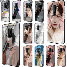 Get more info on the EWAU Sunmi LEE Kpop Girl Tempered Glass phone case for Samsung S7 Edge S8 S9 S10 Note 8 9 10 plus A10 20 30 40 50 60 70