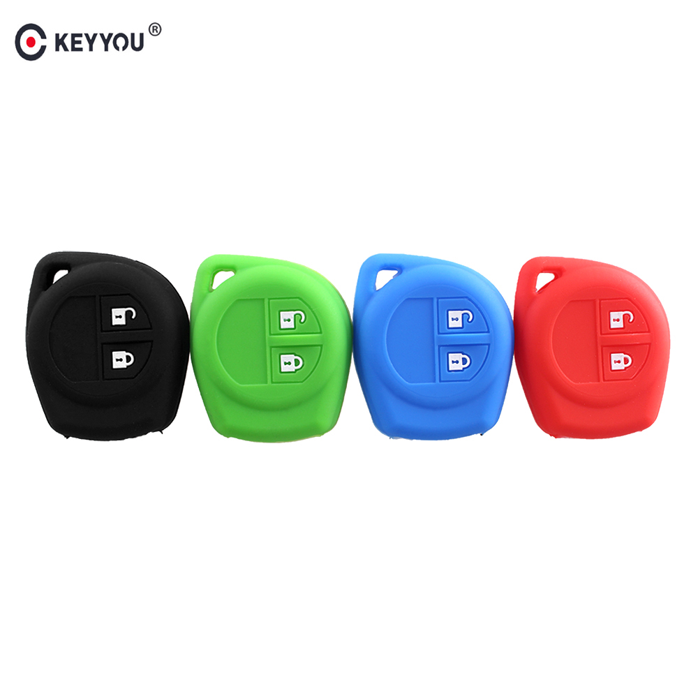 2 Buttons Silicone Remote Key Cover Holder Case Fob For Suzuki SX4 Swift Vitara
