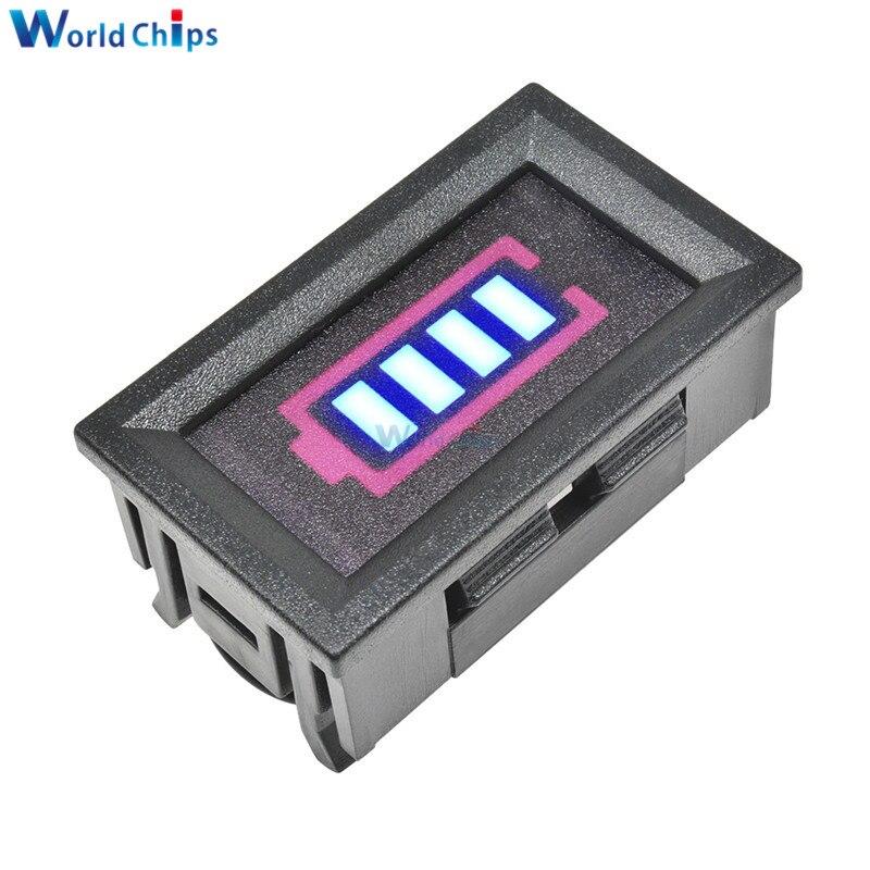 Panneau daffichage dindicateur de capacité de batterie au Lithium 12.6V bleu 3S avec pourcentage de coquille