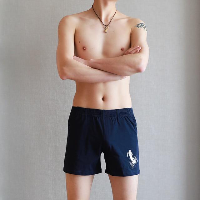 Men Pajama Shorts Sleep Bottoms Printed Lounge Short Pants Soft Summer Sleeping Shorts Home Pajama Pants Underwear Plus Size