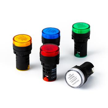 1 szt 12V 24V 110V 220V 380V 22mm mocowanie panelu wskaźnik zasilania led lampka sygnalizacyjna pilota tanie i dobre opinie CHFRPU