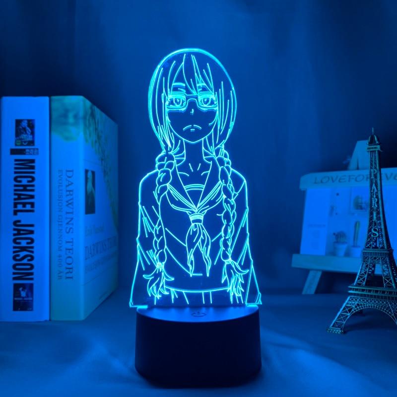 H1fa93f59dd284f75ad5d5985c423599aZ Luminária Saki yoshida conduziu a luz da noite para o quarto decoração presente nightlight anime lâmpada de mesa 3d saki yoshida