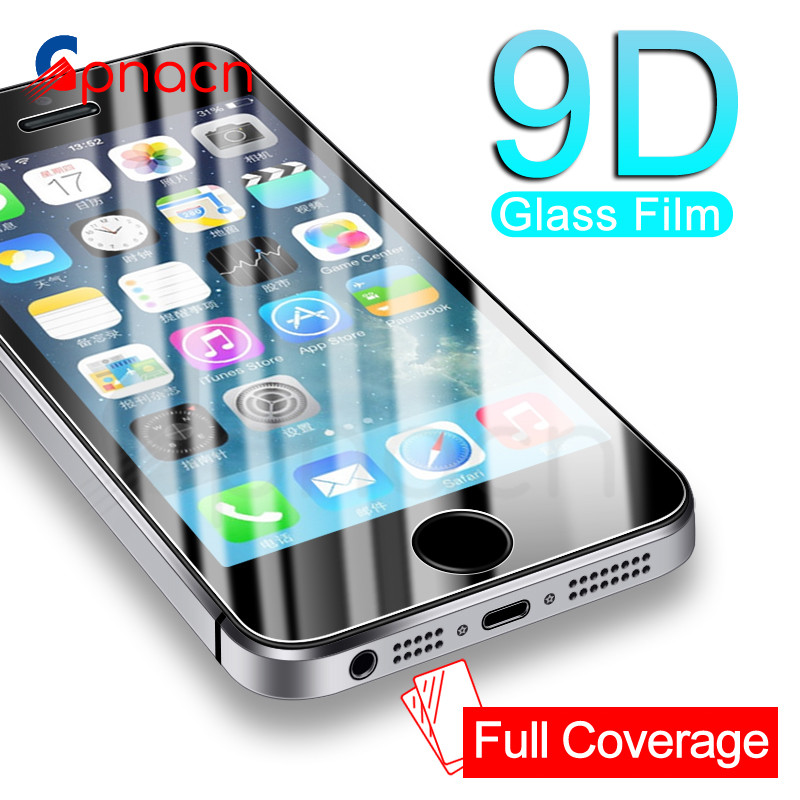 9D Protective <font><b>Glass</b></font> on the For <font><b>iPhone</b></font> 5S <font><b>5</b></font> 5C SE Tempered <font><b>Screen</b></font> <font><b>Protector</b></font> <font><b>Glass</b></font> For Apple <font><b>iPhone</b></font> 5S SE 4 Protection Safety Film image