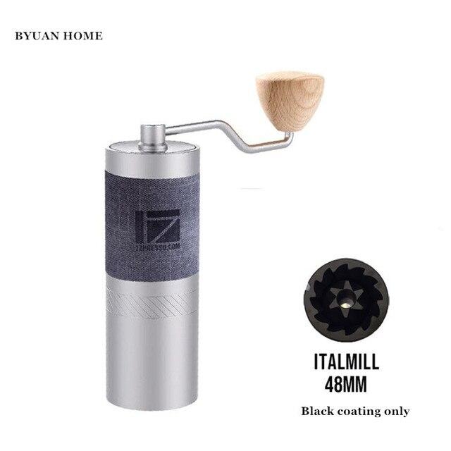 1pc nouveau 1zpresso JE Italmill 48mm fraise conique super portable moulin à café moulin à café super manuel roulement à café recommander