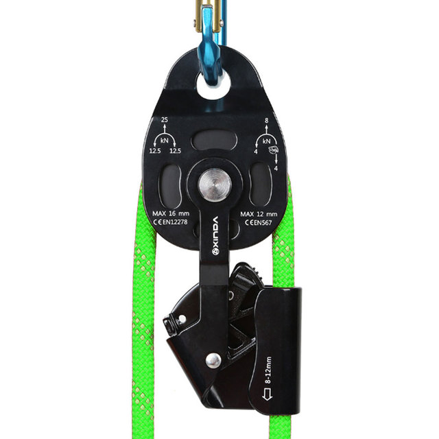 25KN Workload Rescue Speed Pulley Heavy Duty Rescue Single Swivel Rope Pulley Safety Rock Climbing Caving Equipment