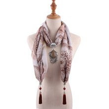 national style jewelry scarf necklace drop alloy fashion cotton and linen pendant