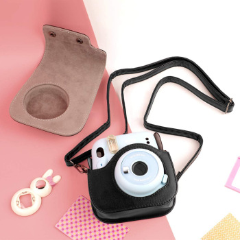 Regulowana kamera torba trwała torba na aparat torba ochronna na aparat mała torba na aparat aparat Polaroid torba na aparat tanie i dobre opinie powstro Natychmiastowy aparat fotograficzny CN (pochodzenie) Torebki Torby aparatu for Fuji Instax Mini 11